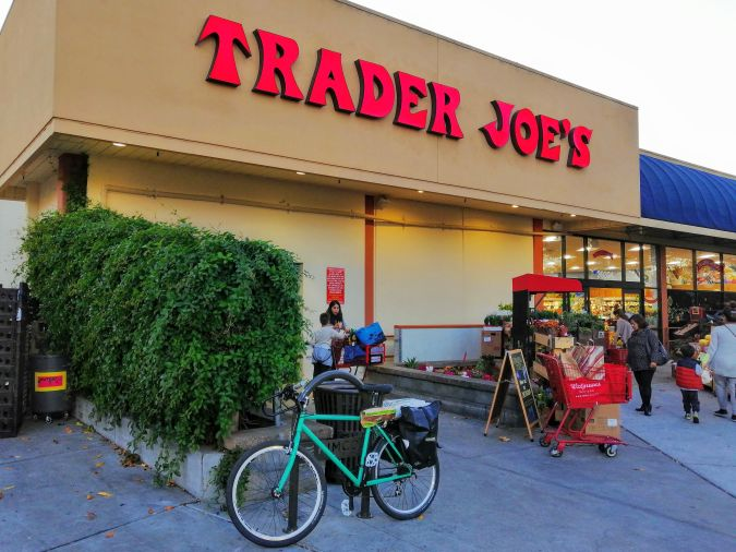 My bicycle in front of Trader Joes Fremont