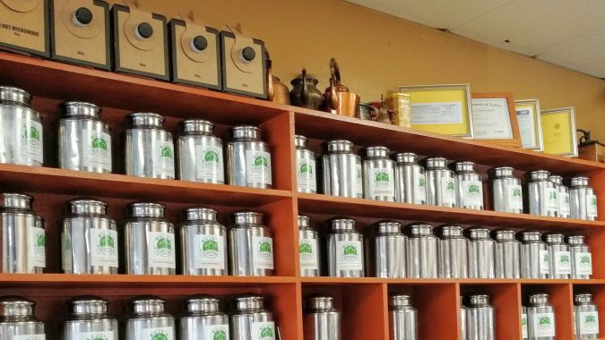 Loose teas at Sujus Fremont