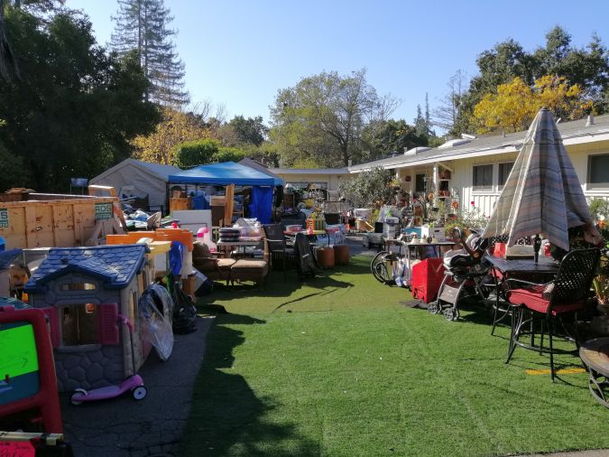 A yard sale