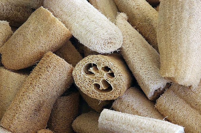 Loofah sponge makes great zero waste washing up sponge
