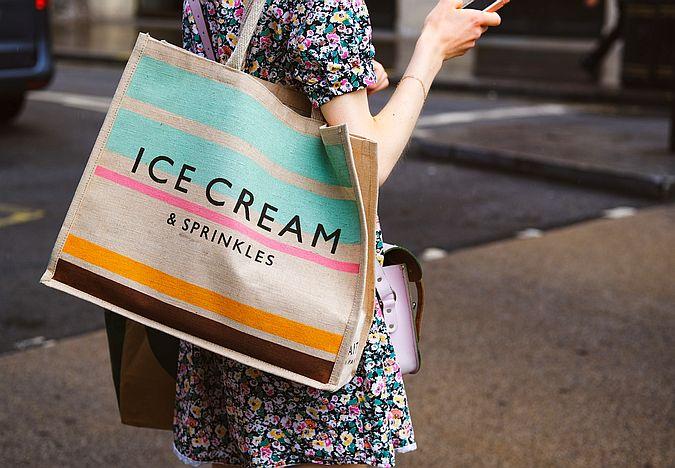 Reusable shopping bag for zero waste shopping